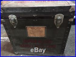 Vintage Military Human Blood Cooler oddity Korean war Medic Case RARE! Army USMC