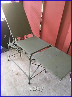 Vintage Military Jeep Army Field Operating Surgical Table & Case Korean War Era