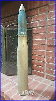 Vintage Military Large Inert Artillery Shell M19b1 90MM Complete Korean War Viet
