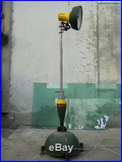 Vintage Mortar Shell Head Light Lamp from Korean War Veterans Belligerency