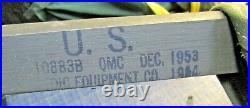 Vintage NOS Korean War Era USGI Folding Canvas Cot 1954 Orthopedic Equipment Co