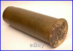 Vintage Old Korean War Australian Trench Art 4 inch Brass Shell 1951