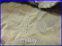 Vintage Original Korean War Era US Army M-1951 Fishtail Parka Large Shell M51