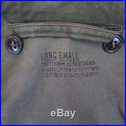 Vintage Original Korean War Us Army Jacket Field M-1951 M51 Small Long Conmar