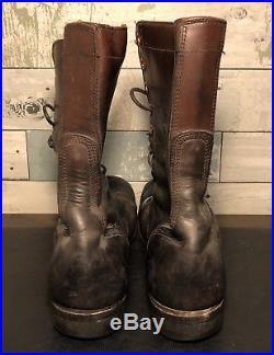 Vintage Original Us Korean War Era M1948 Jump Type Combat Boots Size 10 R
