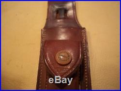 Vintage Randall Knife #1-7, Korean War, Brown Button Heiser Sheath, Brrass Nut