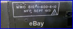 Vintage Signal Corp Radio Transmitter BC-604-DM Korean War 1951 AS IS REDUCED