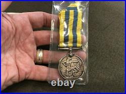 Vintage Silver Korean War Medal Canadian Named Full Size