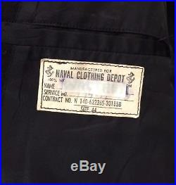 Vintage U. S. NAVY Military PEA COAT Mens 44R Korean War Era