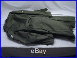 Vintage US Army Korean War era Field Trench Coat Jacket 1953 withLiner Overcoat