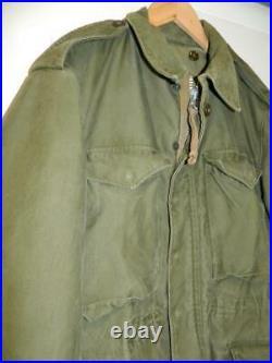 Vintage US Army M-1951 Field Jacket 1952 Korean War Period OG107 Small