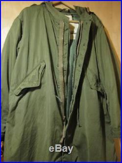 Vintage US Army M-1951 Fish Tail Parka Coat and Liner Jacket M51 Korean War