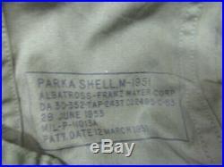 Vintage US Army M-51 Fishtail Parka With Liner Korean War Coat Large M-1951