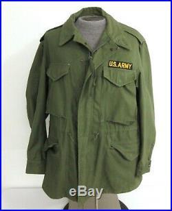 Vintage US Army Military Field Jacket M-1951 Korean War Size Medium