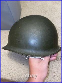 Vintage US Army WW2 / Korean War M1 Steel Helmet CAPAC Liner