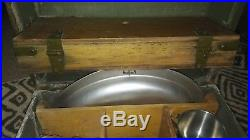 Vintage US Military Officer Mess Kit 1950's Korean War Era Army Cookware Kitchen