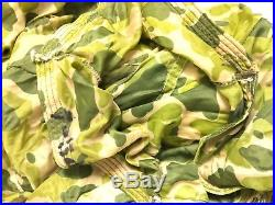 Vintage US Navy Military Camouflage Canopy Parachute Korean War Era