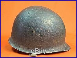 Vintage US USA Korea Korean War SMC Helmet with Liner