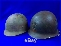 Vintage US USA Korea Korean War SMC Helmet with Liner