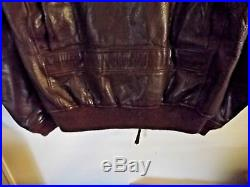 Vintage USMC Korean War Leather Bomber Jacket Military re-issued from WWII