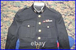 Vintage USMC Marine Corps Officer Uniform WWII Korean War withCover Ribbons & EGAs