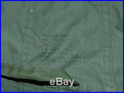 Vintage Us Army M-1951 Fishtail Parka Shell Dated May 1953 Korean War Small Fmm