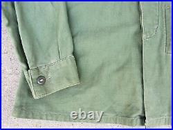 Vintage Vietnam Korean War USMC P58 Utility Coat Jacket Shirt Sz Large USN USAF