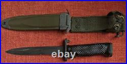 Vintage Vietnam Or Korean War Usm8a1 Pwh Us M5 Military Bayonet Knife W Sheath