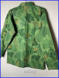 Vintage Vine Leaf Korean War Era Camo Jacket
