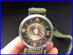 Vintage WALTHAM WATCH Model 1949 Wrist Compass with Box MILITARY PILOT Korean War