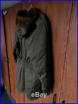 Vintage WW2 Korean War B-9 Field Parka Coat Rare US Army Air Force VGC MEDIUM