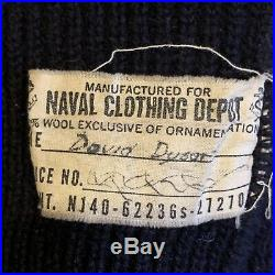 Vintage WWII 1940s 1950s Korean War USN US Navy Watch Cap Wool Beanie Hat Named