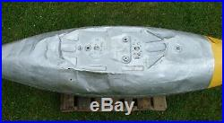Vintage WWII Military Aircraft Fuel DROP TANK, P80 Shooting Star, Korean War WW2
