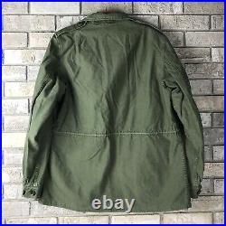 Vintage Womens 16L Army Field Jacket 1950s Post WWII Korean War Era M43 M1943