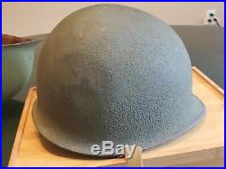 Vintage Wwii /korean War Us Marine Corps M1 Combat Helmet With Camouflaged Cover