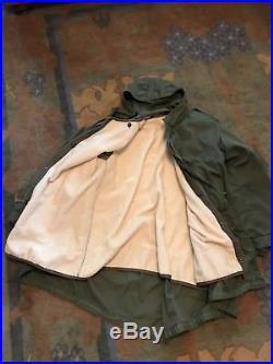 Vintage original Korean War US M-1951 Fishtail Parka Hood and Liner, Small
