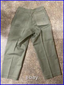 Vintage us marine corps herringbone jacket and pants WW2 Korean War Named. Read