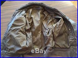 Vtg 1950s Korean War Navy G-1 Goatskin Leather Flight Jacket sz L or XL 42 or 46