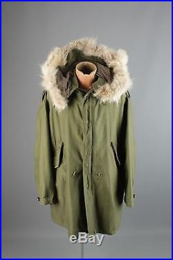 Vtg 1951 Dated Korean War US Army Fish Tail M-51 Parka ...