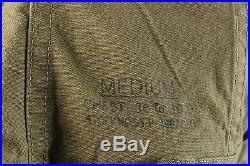 Vtg 1951 Dated Korean War US Army Fish Tail M-51 Parka Wolf Fur Hood sz M #2180
