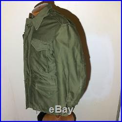 Vtg 1951 Korean War Cold field jacket M-1951 men's small short