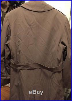 Vtg. 1952s Korean War REGULATION ARMY Wool WithRemovable Liner Overcoat. Sz. 42 L