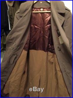 Vtg. 1952s Korean War REGULATION ARMY Wool WithRemovable Liner Overcoat. Sz. 42 L