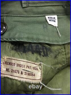 Vtg 40s 50s Korean War OD Green US Army Overcoat Mens M Wool Liner Jacket Trench