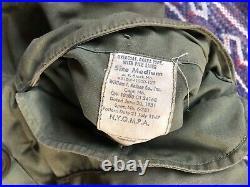 Vtg 40s 51 M-1947 M47 Korean War US Air Force Parka Wool Liner 1951 Medium