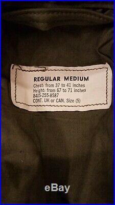 Vtg 50's Korean War US Army M-1951 Military Field Jacket Regular Med Deadstock