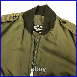 Vtg 50's Military TANKER Jacket Army Combat USMC USN Navy Korean War Era Coat M