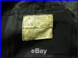 Vtg 50s Korean War Era USN NAVY 8 button Peacoat 44 Stenciled Double Breasted
