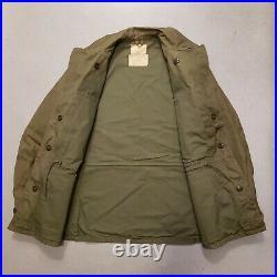 Vtg 50s Korean War M-50 US Army Military Field Coat Jacket Sz Regular Small NICE
