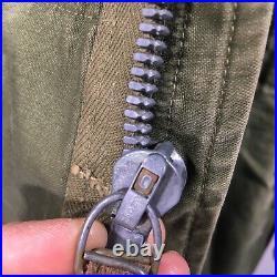 Vtg 50s USA Military M-1951 FIELD Coat Korean War US Army M51 Combat Navy Jacket